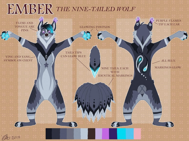 Character Design Fursona Fursuit Reference Character Etsy