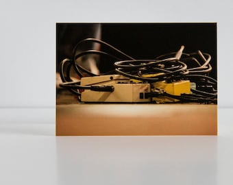Guitar Pedal Contemporary Photographic Blank Greetings Card - Photography - Photo - Birthday Card - Anniversary Card - Father's Day Card