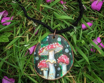 This is where magic is made - Amanita Muscaria Necklace Fly agaric Toadstool Fairy
