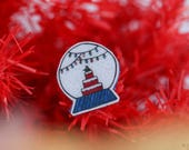Snow globe brooch, Christmas jewelry, Christmas gift ideas