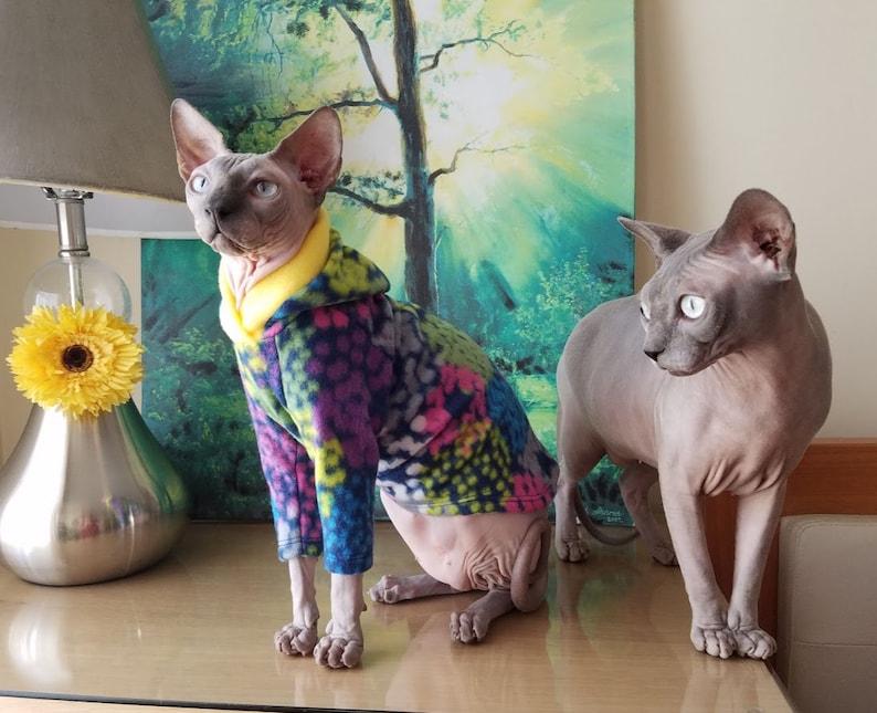 Cats sweater/ Size SMALL/ cats pajamas/ cat shirt/cat sweaters /pet sweater  /Sphynx cat clothes/Sphynx clothing /cats clothes/ shirt for cat