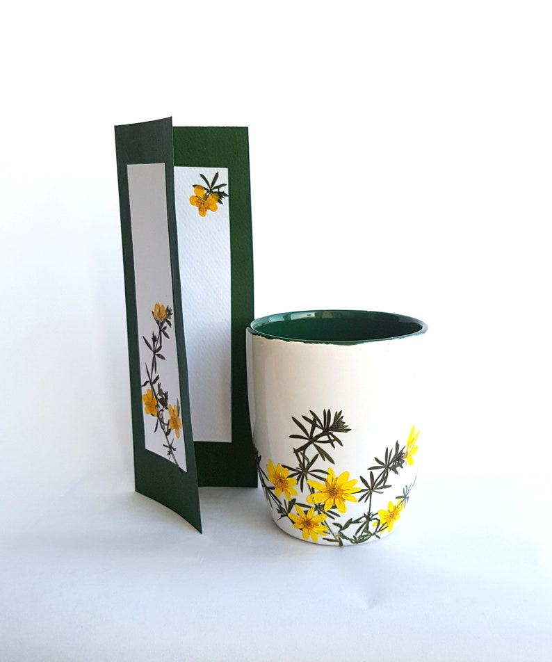 Ceramic mug, Coffee mug, Tea mug, Handmade coffee mug, Pressed flowers mug,  Unique mug, Unique gift, Mother's day gift