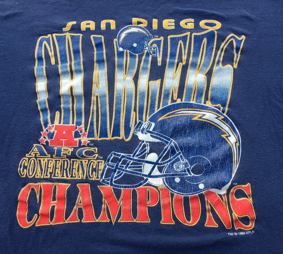 1994, San Diego Chergers Chergers Diego AFC Champions chemise 44a88b