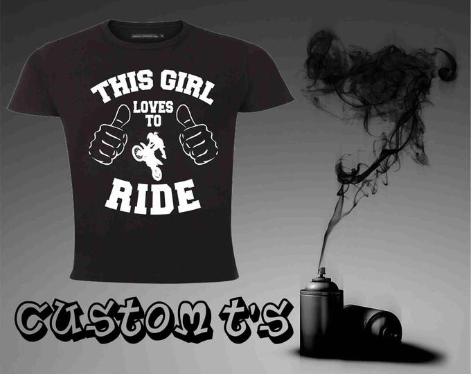 This Girl Loves To Ride t shirt
