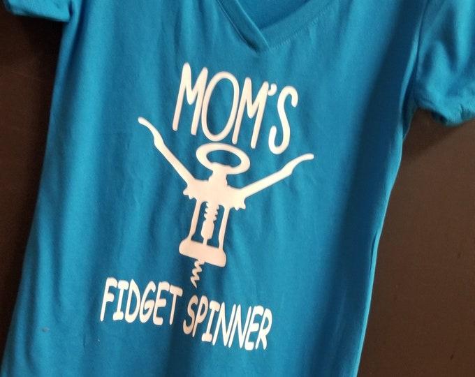 Mom's Fidget Spinner funny women's v neck t shirt