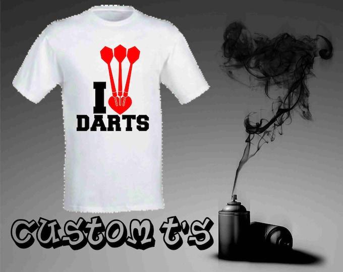 I Heart Darts t shirt