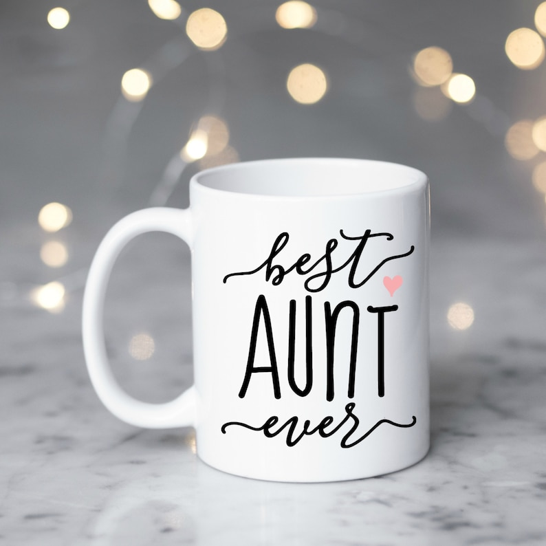 Best Aunt Ever Coffee Mug Aunt Gift New Aunt Gift Gift For Sisters New Baby Pregnancy Announcement Idea Cute Coffee Mug