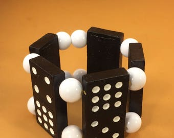 Wood Domino Bracelet
