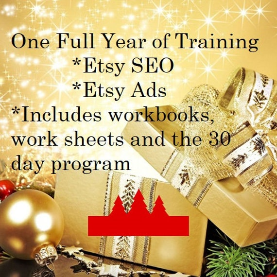 Etsy SEO and Advertising Training for One Full Year