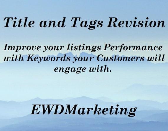 SEO, Titles and Tags, SEO Keywords, Etsy SEO,