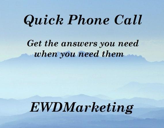 Quick Phone Call, SEO Help,