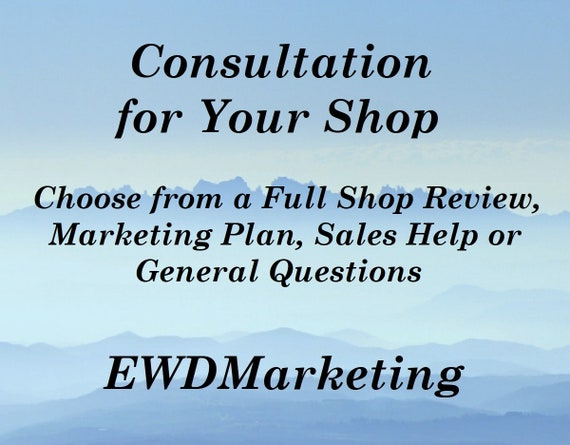 Etsy Shop Consulting designed to answer Your questions and get your business moving forward.
