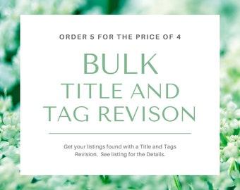 BULK SEO Title and Tags Revision, SEO Service,