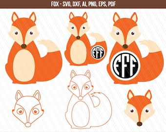 fuchs svg fox svg datei fuchs clipart wald svg tier etsy. Black Bedroom Furniture Sets. Home Design Ideas