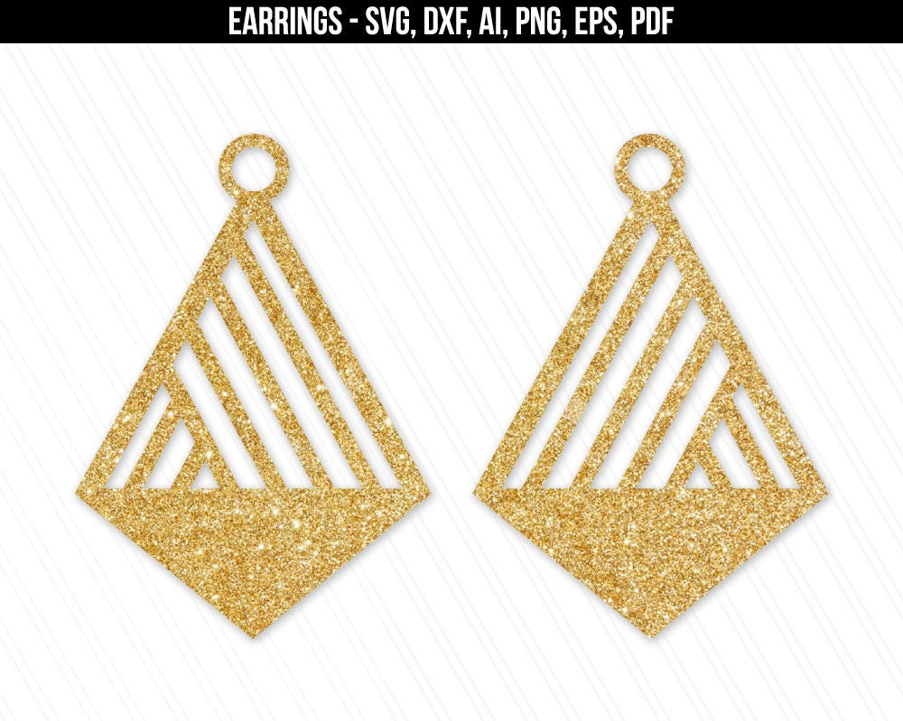 Download Earrings svg Jewelry svg dxf cut filesleather jewelry | Etsy