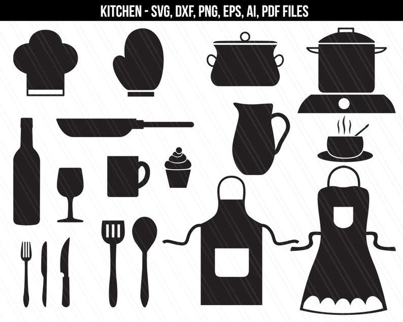 Kitchen svg Kitchen Clipart Cooking svg svg files for image 0