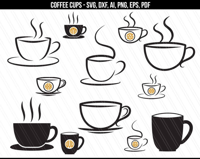 Coffee cup SVG Coffee svg files Coffee mug svg Cafe svg image 0