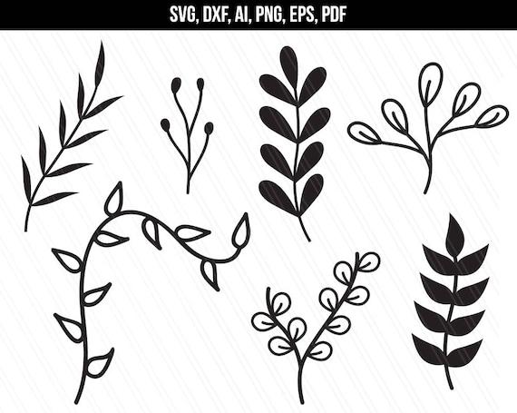 Leaves Svg Branches Svg Nature Svg Leaf Clipartwedding Etsy