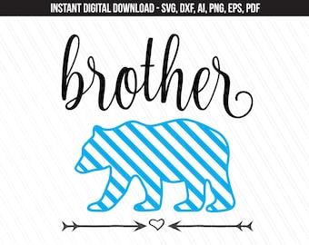 Brother bear Svg, Brother svg, Svg for kids, Bear family svg cricut, brother bear clipart, brother bear tshirt - Svg, Dxf, Ai,Pdf,Eps,png