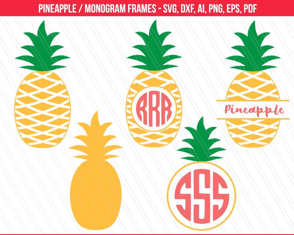 Download Pineapple svg Pineapple Monogram SVG Pineapple cut files ...