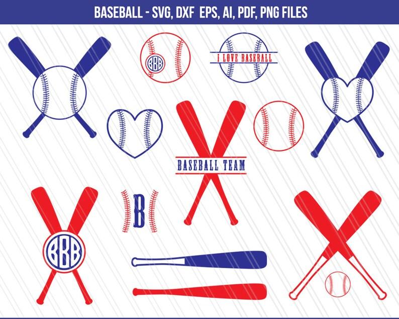 Baseball Svg Monogram Baseball Svg Baseball Kij Svg Sports Etsy