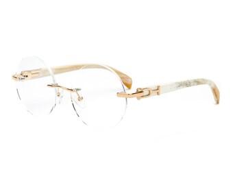 960864fb07 White Buffalo Horn Eyeglasses Frame