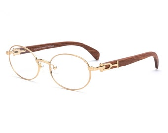 c0364ba869 Cartier Style Wood Frame Glasses
