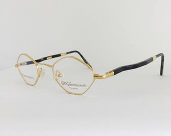 27699a2330c0da Plaqué or lunettes Vintage Pol Gaspard 22KT lunettes, Temples en bois  bruns, cadres anciens, Vintage NOS lunettes de soleil, Style Cartier encadre