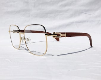 4f17153b192 Gold and Wood Eyeglasses