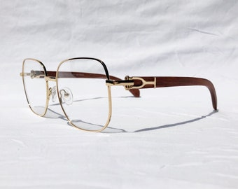 d1cce85d63 Gold and Wood Eyeglasses