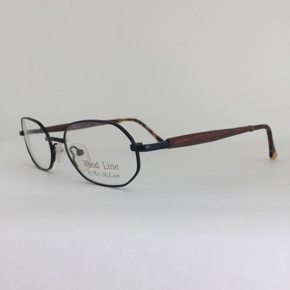 Wood Line Eyeglasses by Ray McLain Vintage Frames Matte | Etsy