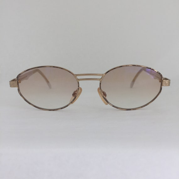 c55a99139800 Cazal 1119 617 Vintage Sunglasses Gold Metal Frames Off White
