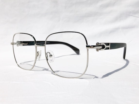 1b0a4191bf8 Vintage Wood Collection Square Silver Frame Black Wood