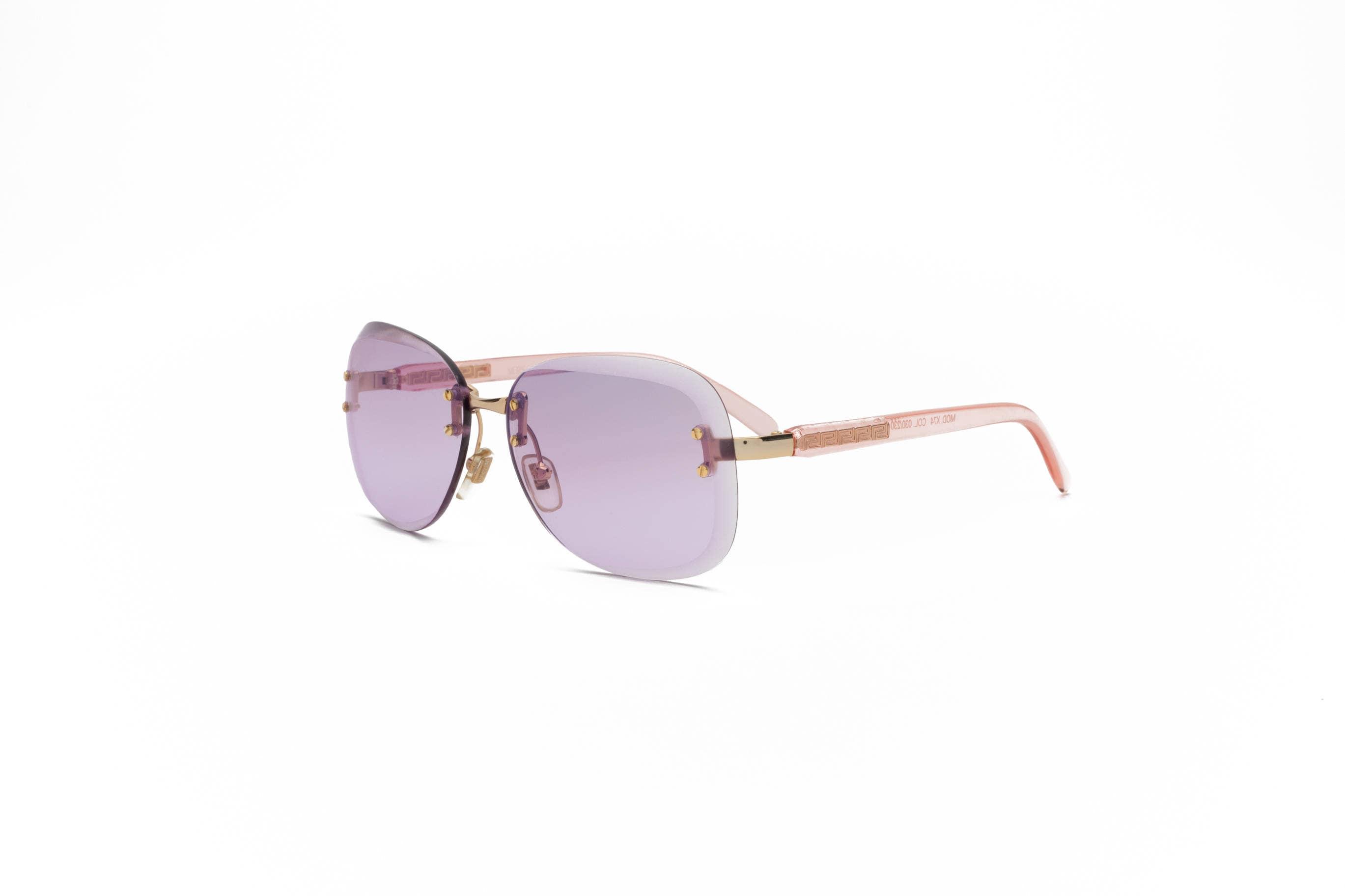 Lila Sonnenbrille Modell X74 030/230 Jahrgang Gianni Versace