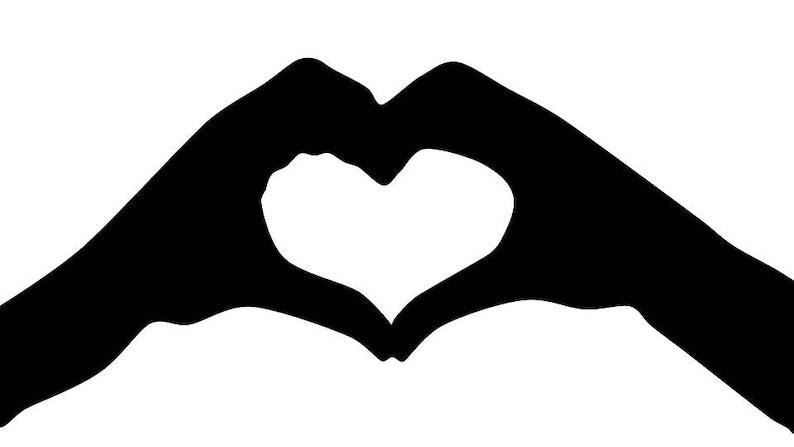 a77e7a622 Heart hands Decal image 0 ...