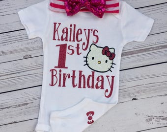 Hello Kitty Birthday Bodysuit Baby Outfit