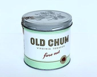 Old Chum Tobacco Tin // Vintage Tin // Fine Cut Virginia Tobacco Tin