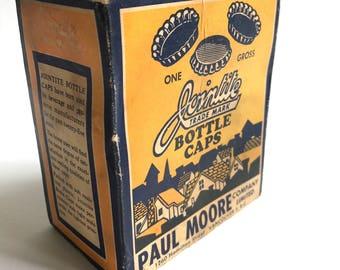 Vintage Bottle Cap Paper Box
