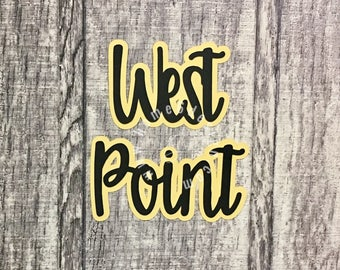 West Point Scrapbook Die Cut
