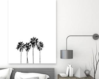 palm tree print, tropical wall art, palm tree poster, abstract print, minimal wall art, minimalism, tree poster, Scandinavian decor, modern