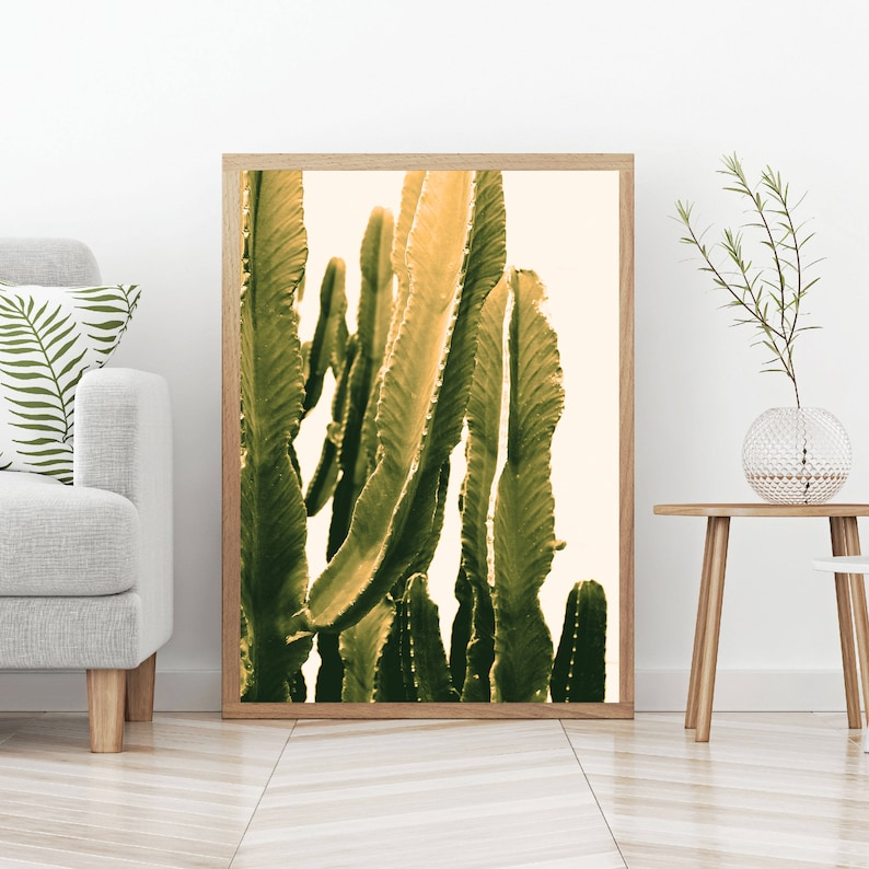 Cactus Picture Printable Wall Art Wall Decor Home Decor image 0