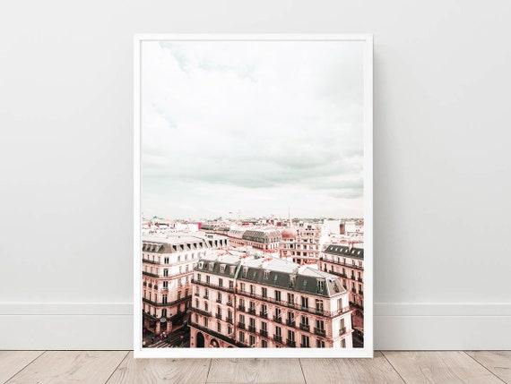 France Paris Street View Eiffel Tower Canvas Wall Art Picture Print 50x76cm