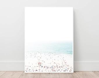 Aerial Beach Photography, Beach Art Print, Nautical Poster, Ocean Wall Art, Coastal Printable Art, Instant Download, Seascape Photography