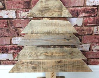 Wooden christmas tree, christmas, rustic, rustic christmas, reclaimed wood, christmas decorations, handmade