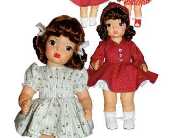 "Vtg 1950s Pattern ~ 16/"" Terri Lee Doll Clothes Sunsuit Party Dress Coat Hat Robe"