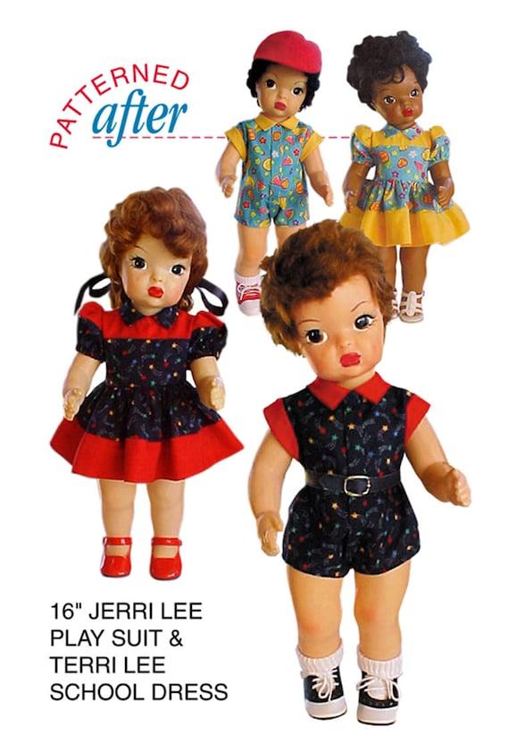 "Nightgown Pattern ~ 16/"" Terri Lee Hat Vtg 1950s Doll Clothes Dress Coat"