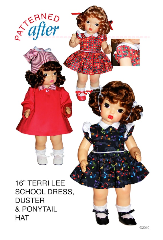 "SUN SUIT AND BEACH JACKET CLOTHING PATTERN FOR 16/"" TERRI LEE DOLL"
