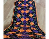 Black and Purple Halloween Table Runner