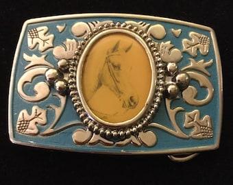 Horse photo belt buckle