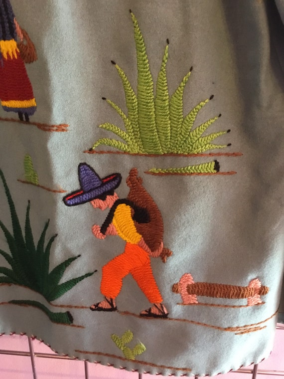 Embroidered Mexican tourist Jacket
